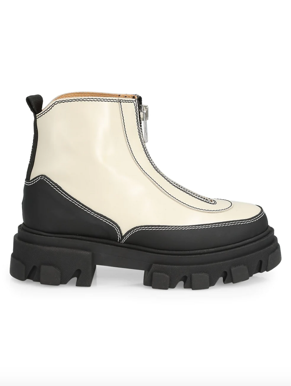Lug Sole Leather Combat Boots