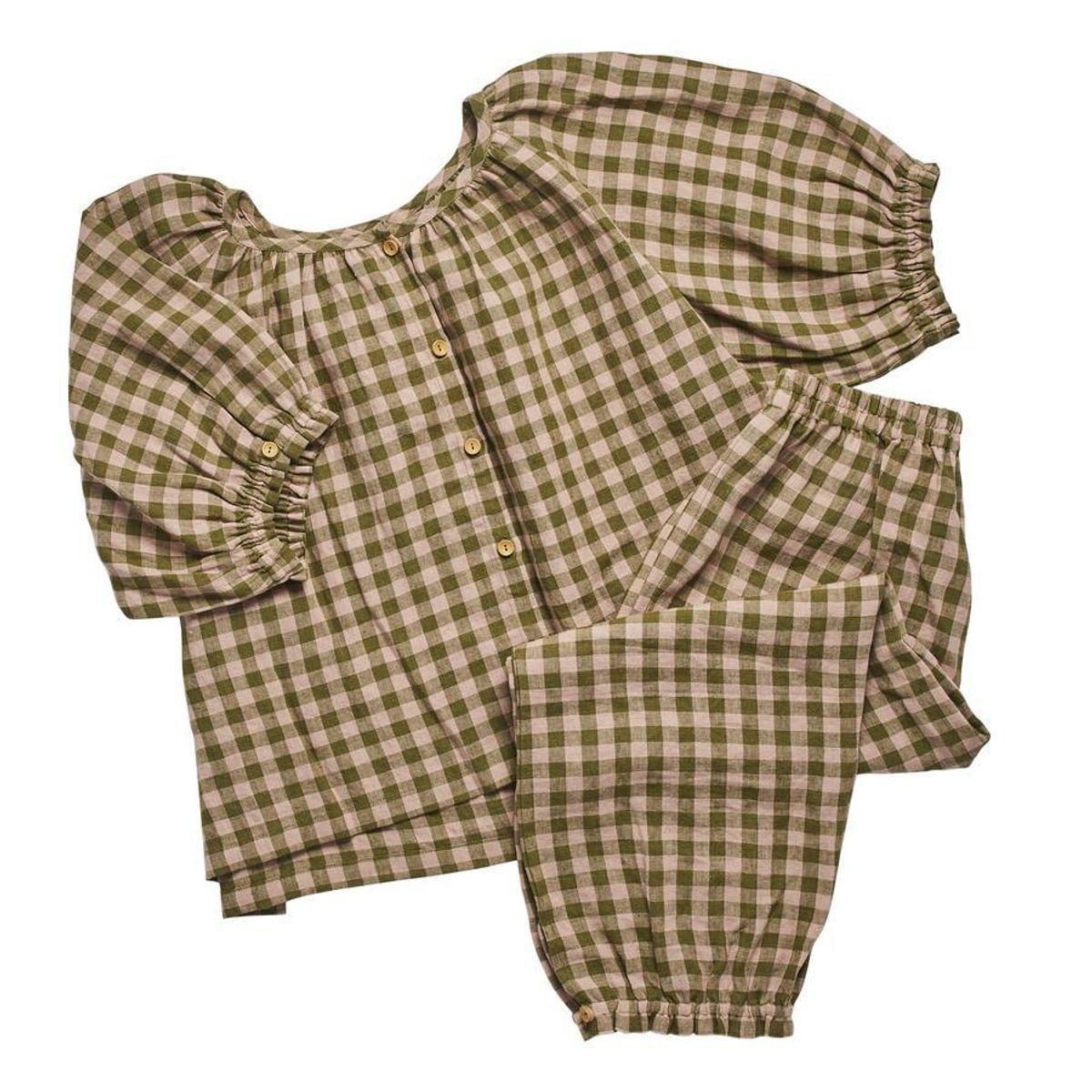 projektityyny womens leinikki olive gingham pyjama