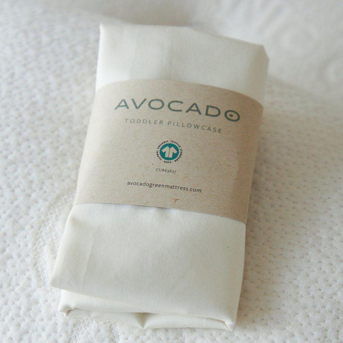 avocado organic mini and toddler pillowcase