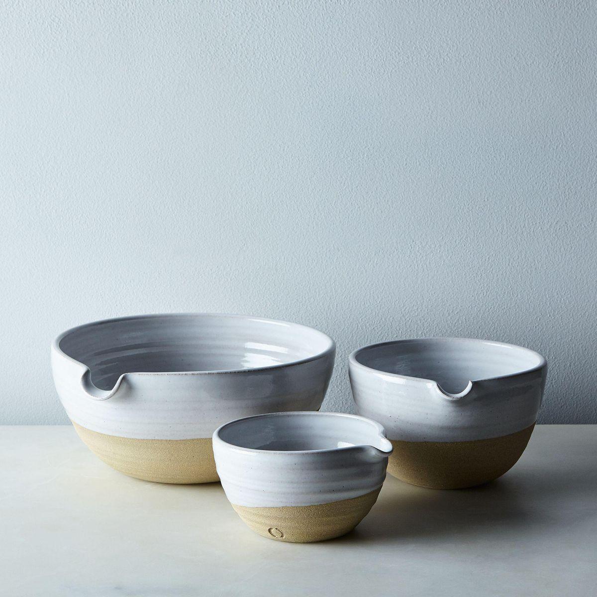 farmhouse pottery pantry mixing bowls