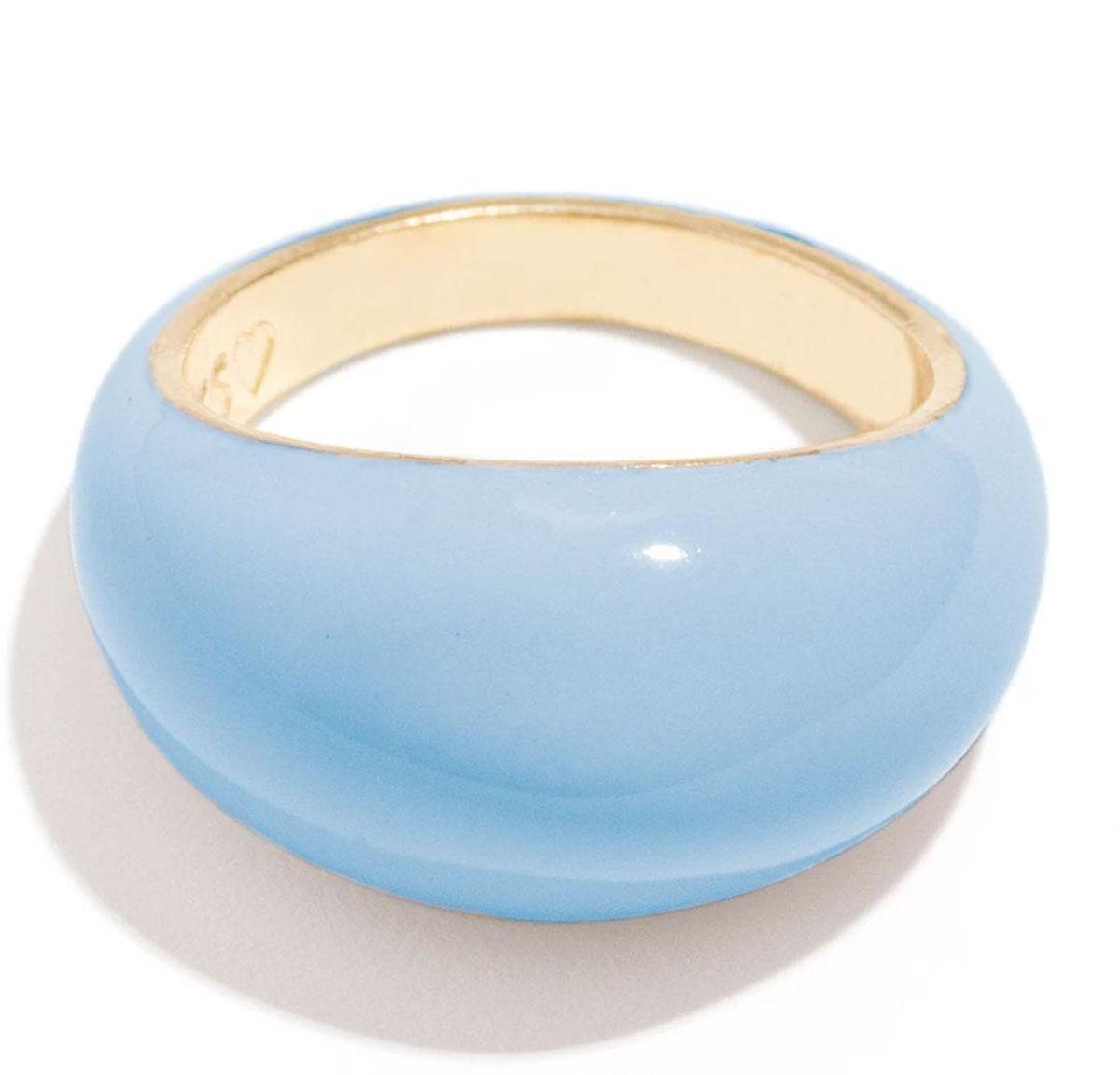 frasier sterling candy enamel ring in powder blue