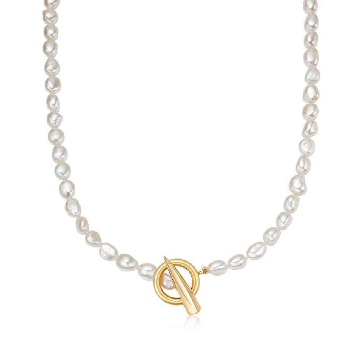 missoma baroque pearl claw t bar necklace