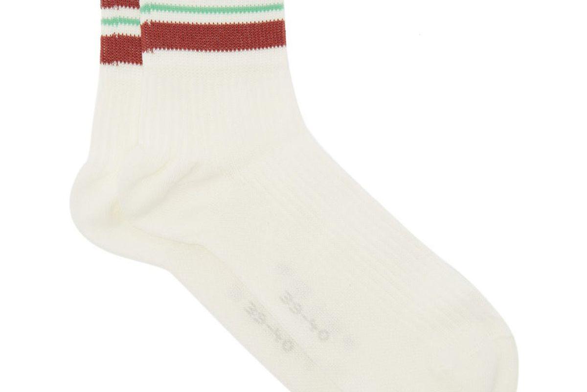 falke striped cuff ankel socks