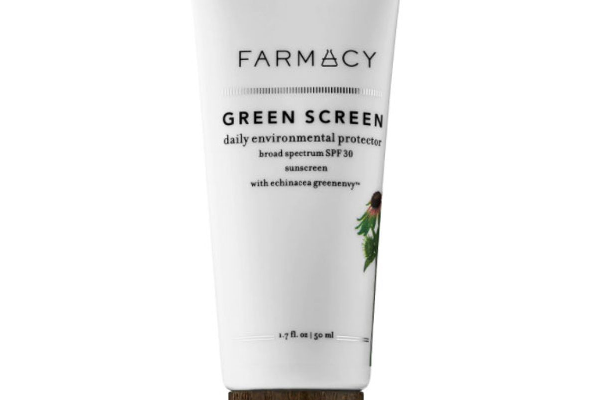 farmacy green screen daily environmental protector broad spectrum mineral sunscreen spf 30 with echinacea green envy