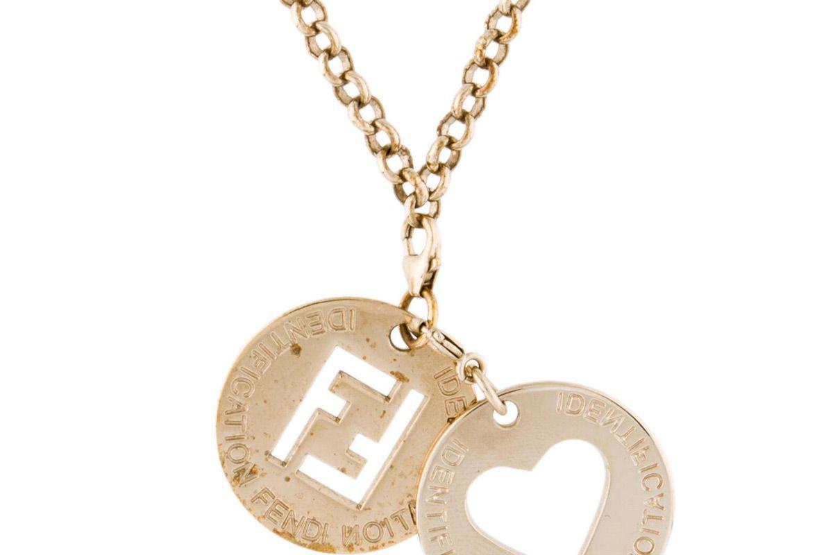 fendi id charms pendant necklace
