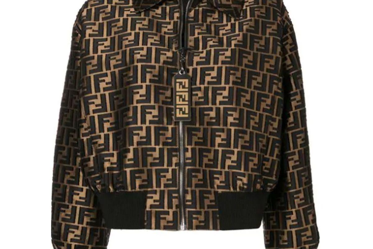 fendi monogram bomber jacket