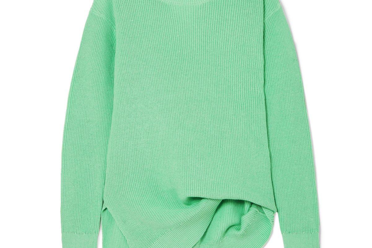 sies marjan fern pickup asymmetric cotton sweater