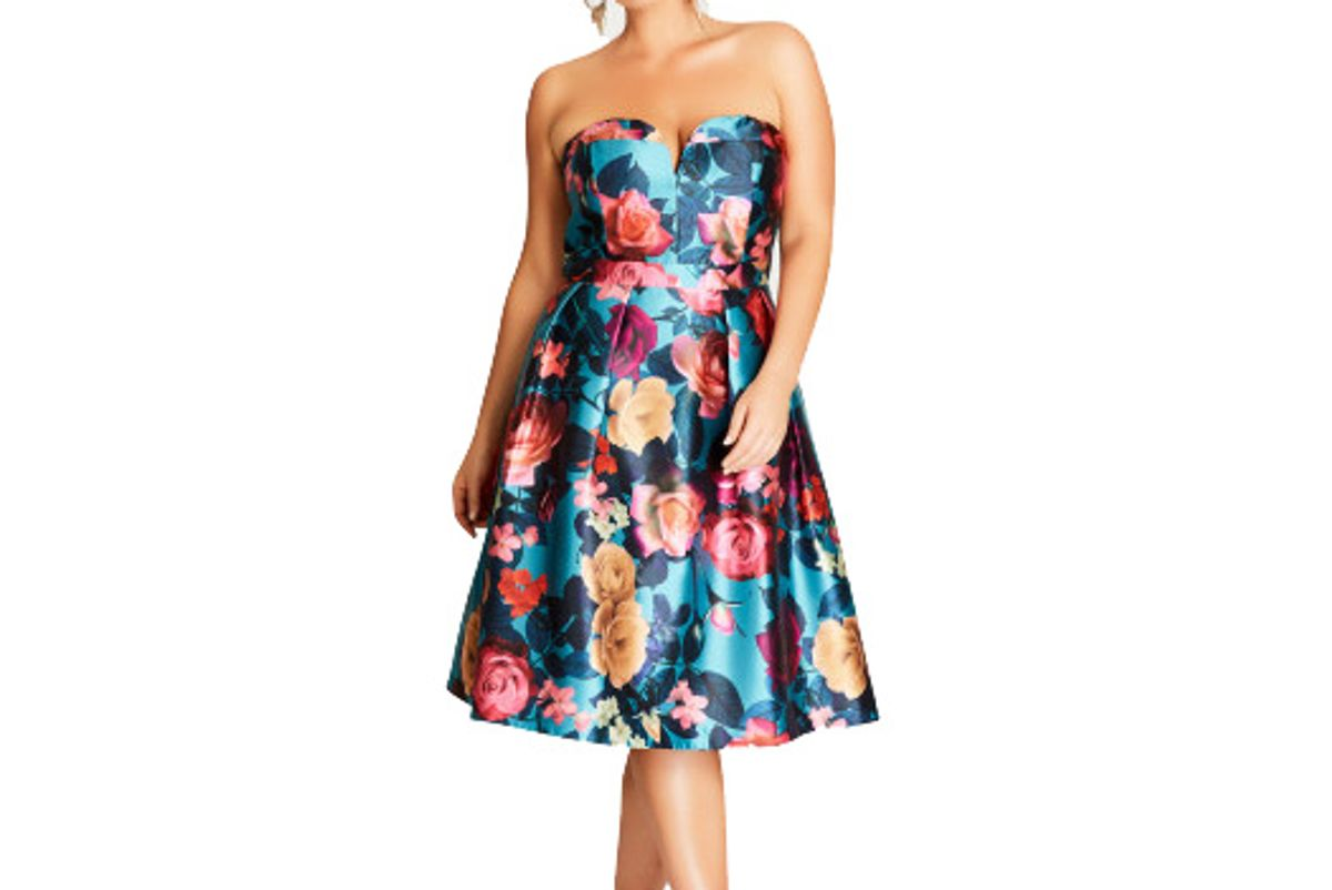 Lush Floral Fit & Flare Dress