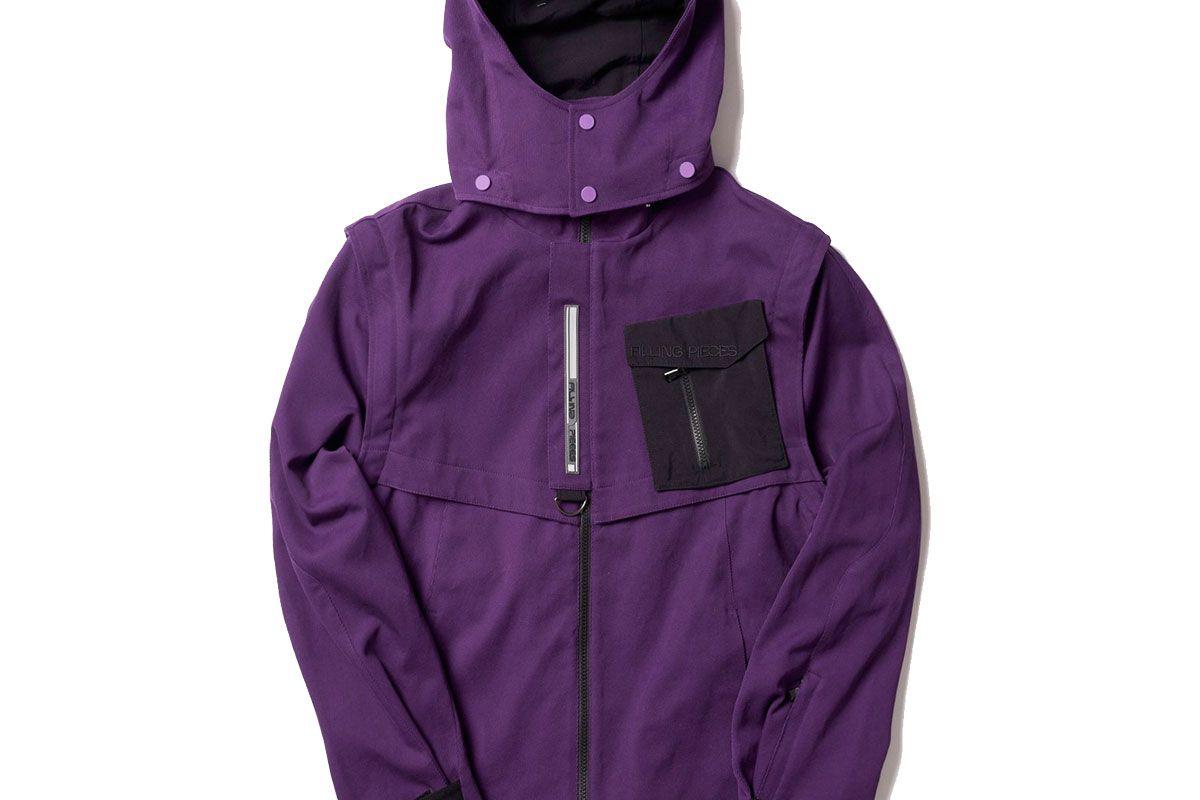 filling pieces tech jacket purple