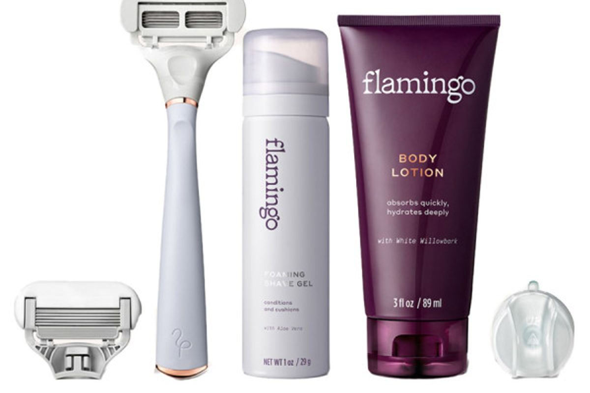 flamingo shave set