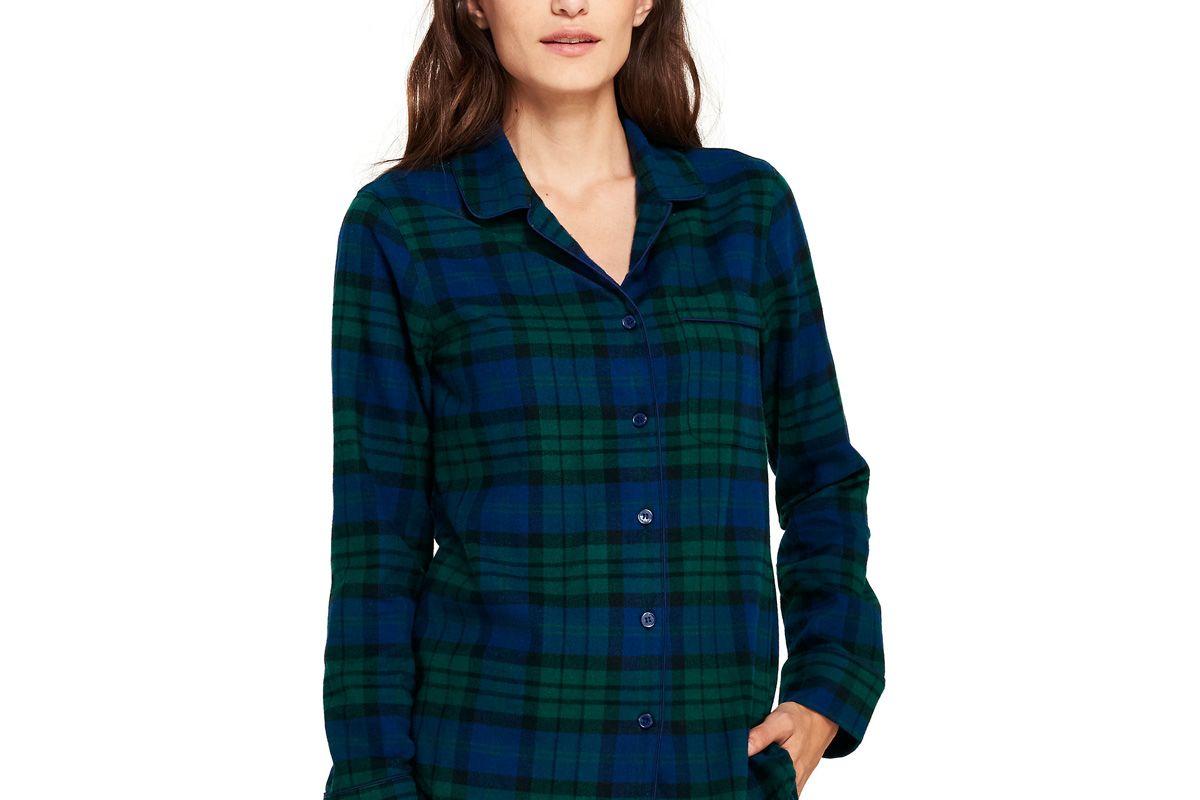 Women's Flannel Sleep Top