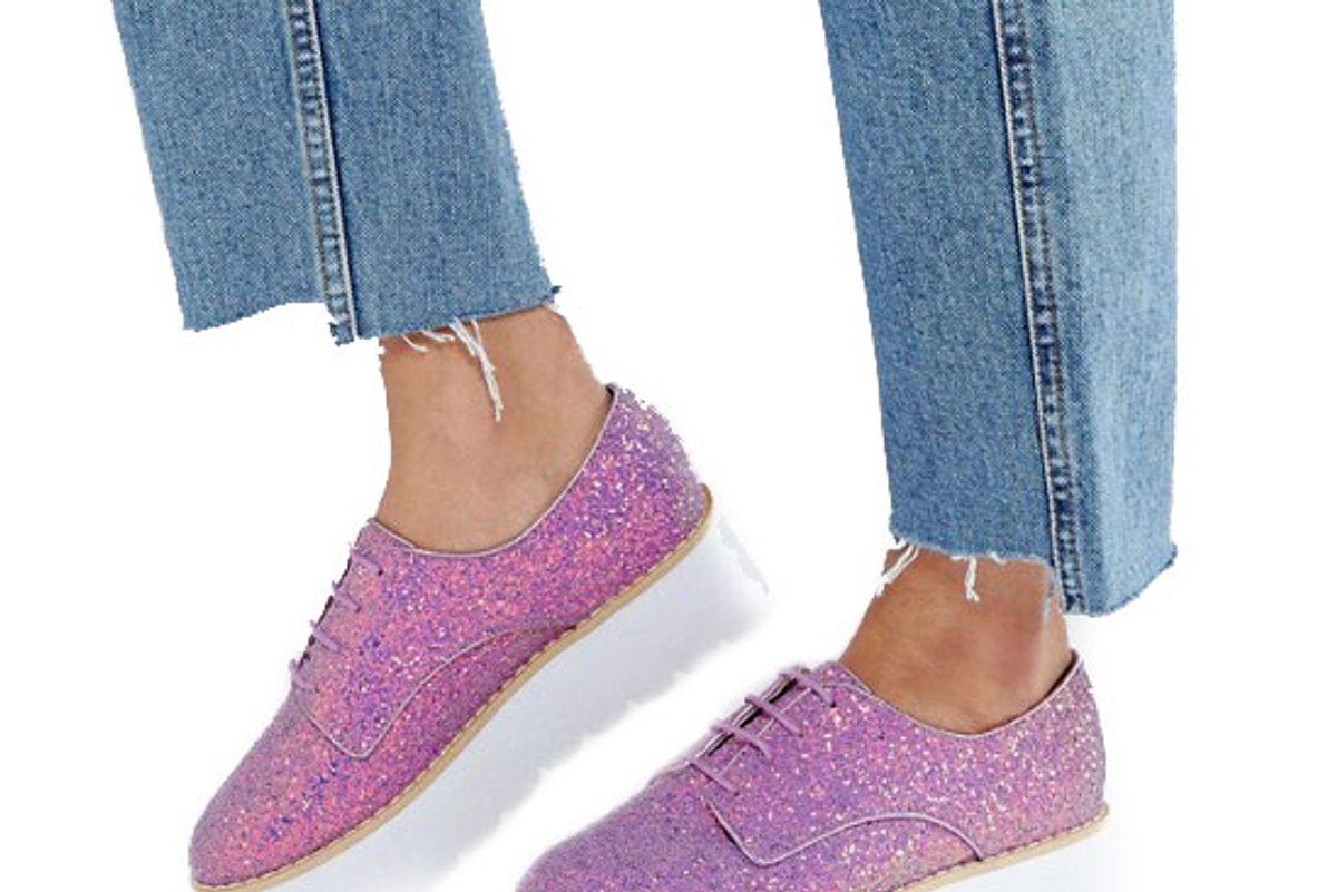 Misfit Chunky Glitter Flat Shoes