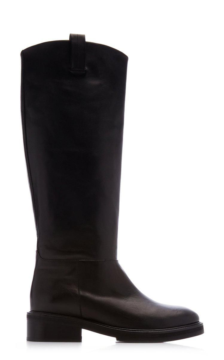 flattered frances leather knee high boots
