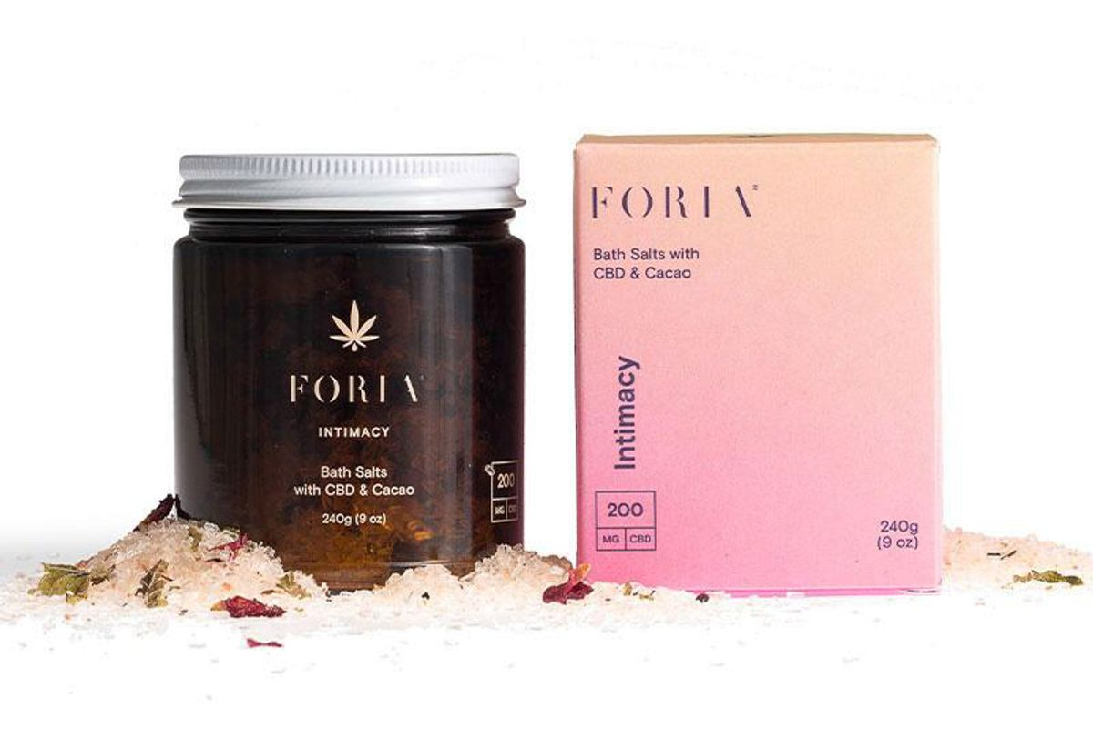 foria intimacy bath salts with cbd and cacao