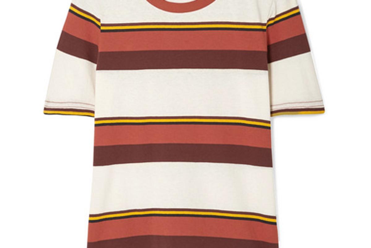 frame true crew striped cotton jersey t shirt