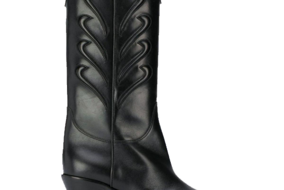 francesco russo western block heel boots