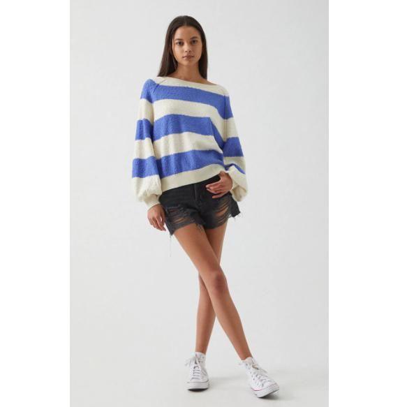 free people found my friend striped sweater