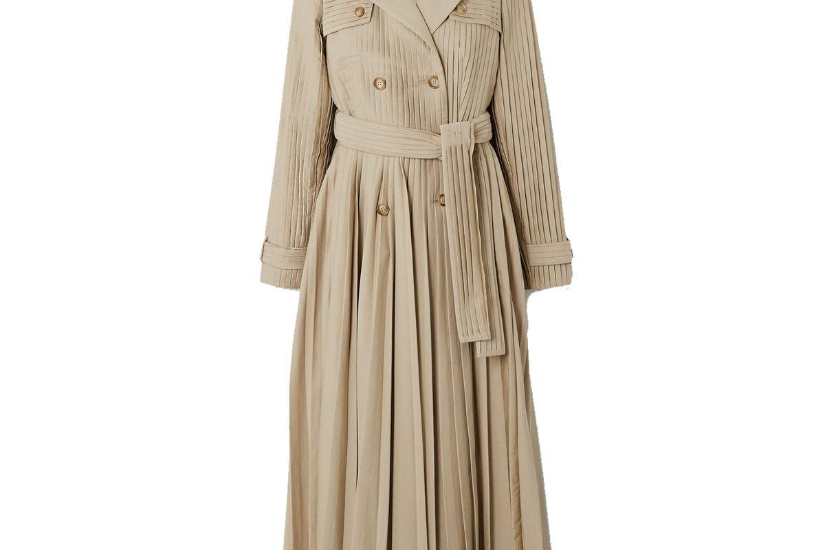 gabriela hearst stein pleated cotton poplin trench coat