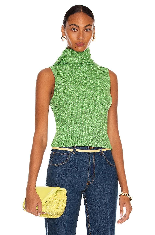 ganni glitter knit sweater