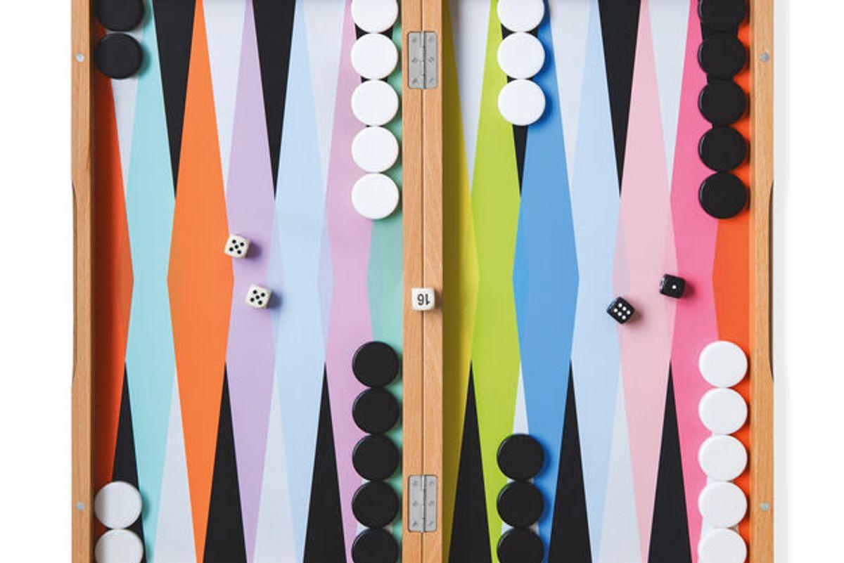 moma design store colorful backgammon set