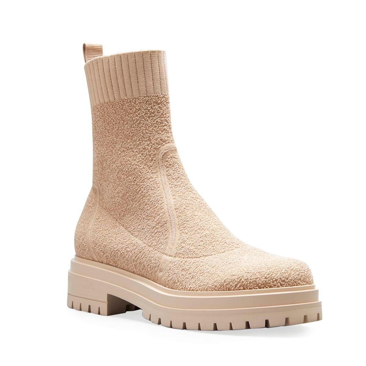 gianvito rossi chester knit sock lug sole booties