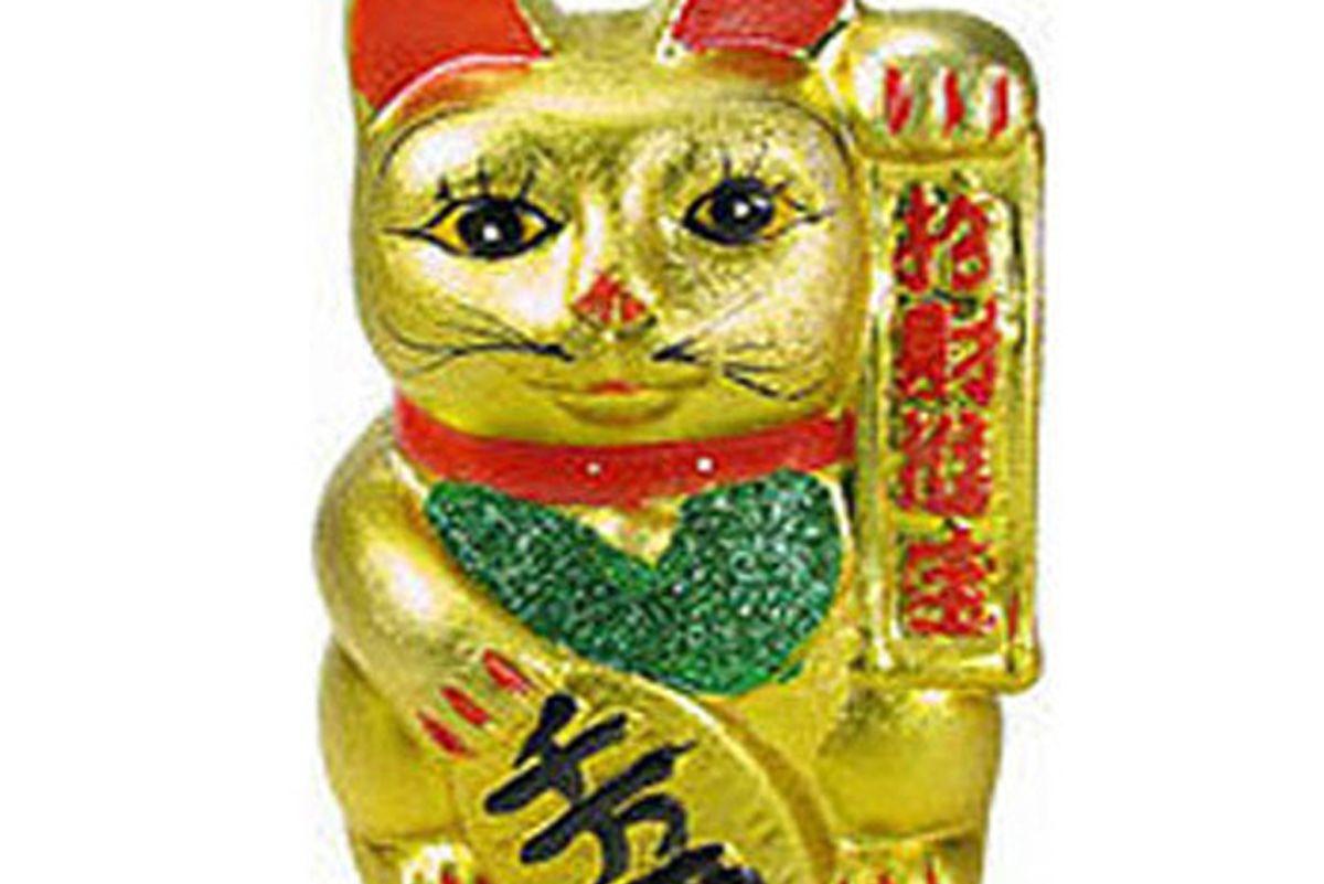 Feng-Shui Gold Lucky Cat