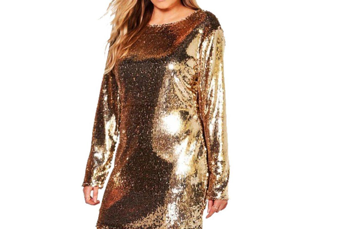 Plus Kady All Over Sequin Bodycon Dress
