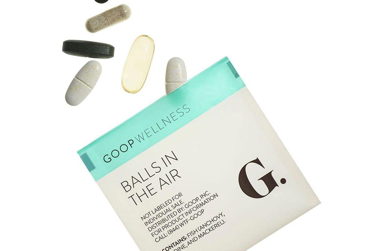 goop wellness balls in the air