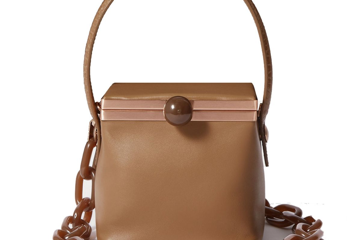 gu de donna leather shoulder bag