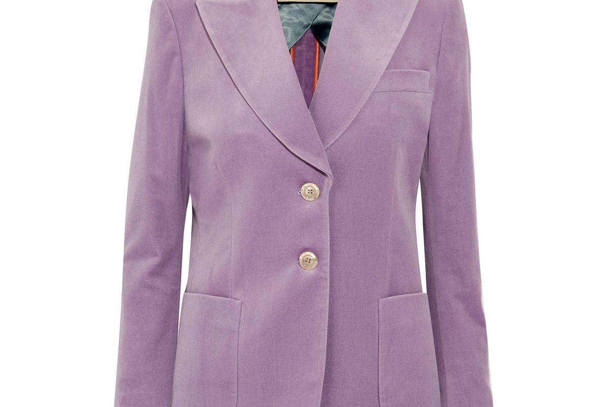 gucci cotton blend velvet blazer
