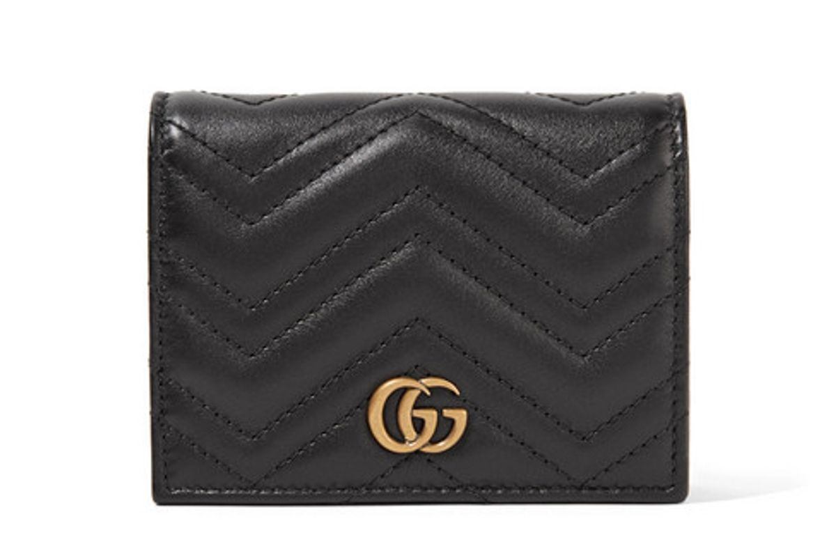 gg marmont small quilted leather wallet