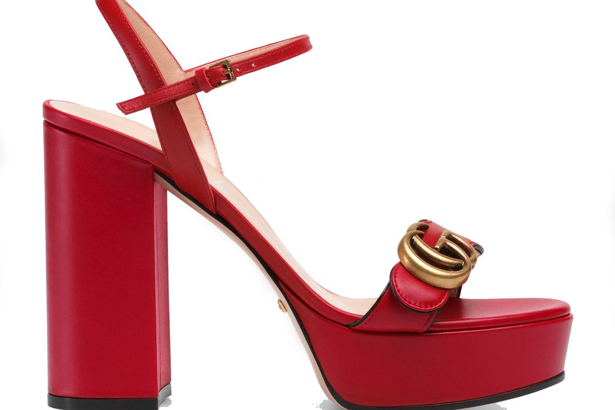 gucci platform sandals with double g