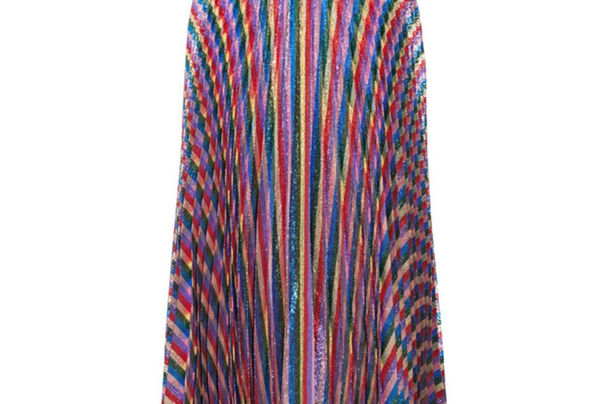 Gucci Plissé-Lurex midi skirt