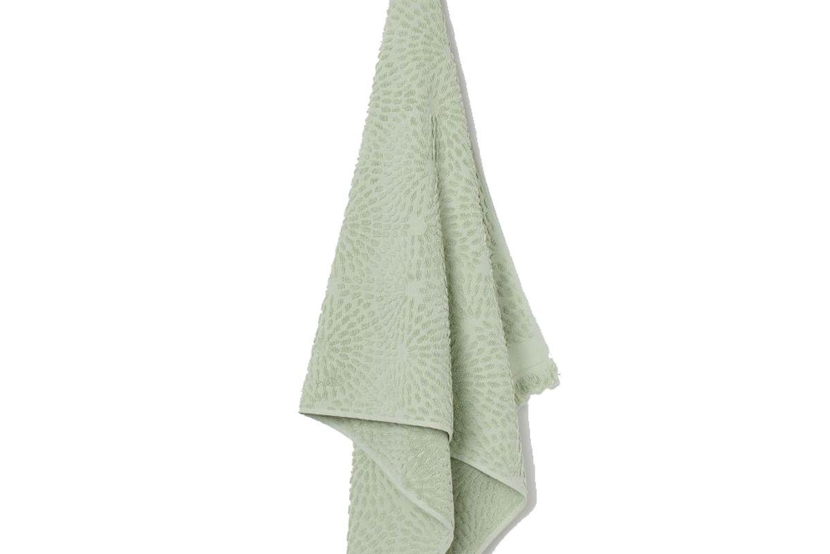 h&m jacquard patterned bath towel
