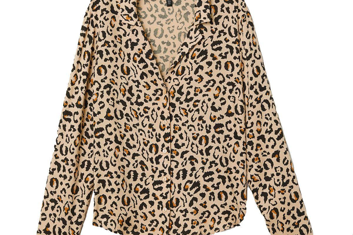 h&m leopard patterned shirt