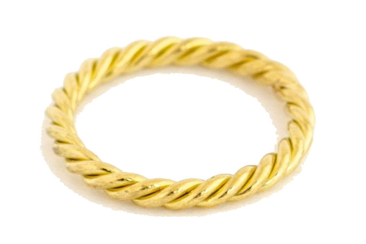 haute victoire hand twisted gold band ring