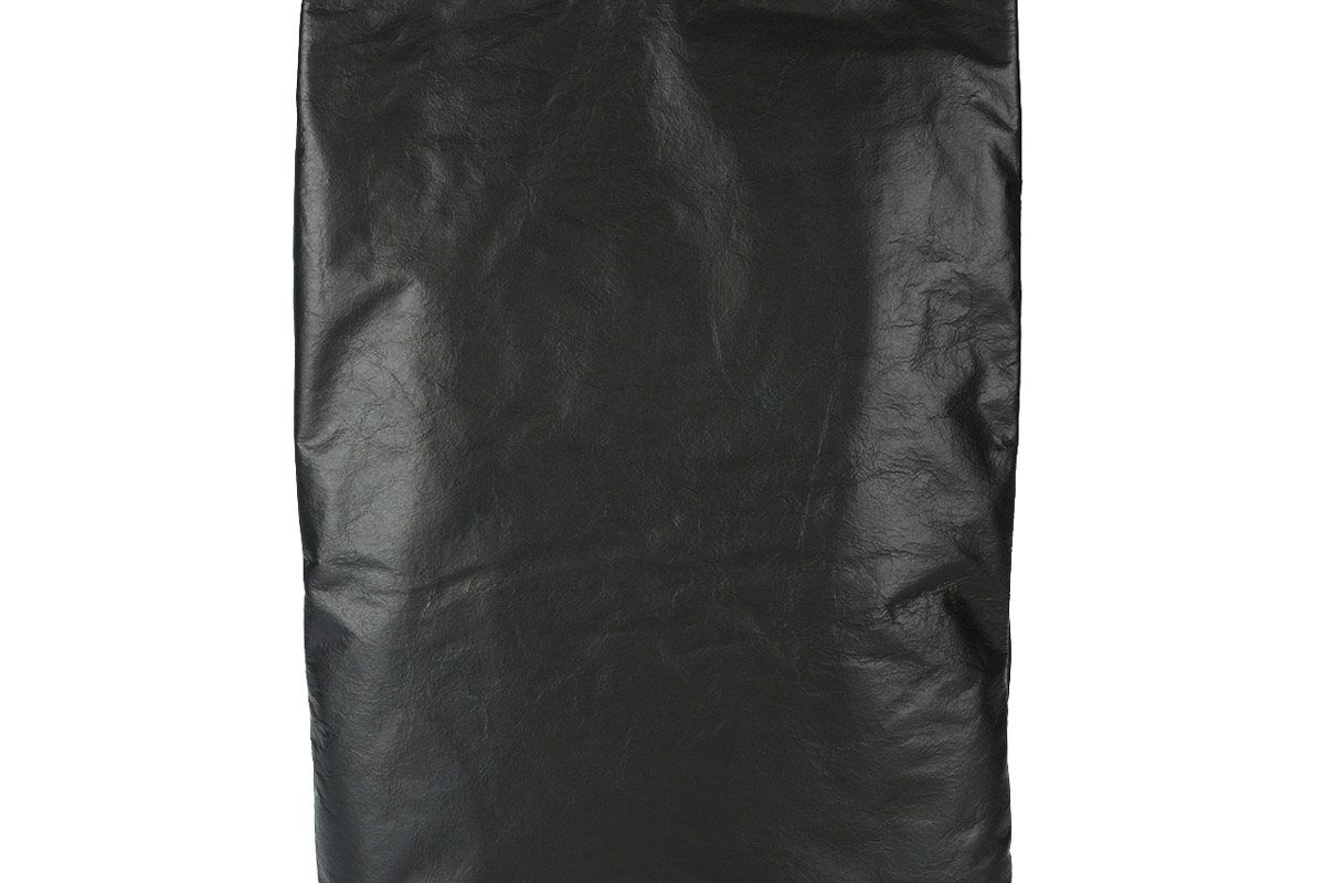 Black Leather Rectangle Tote