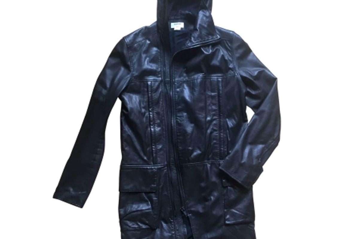 helmut lang leather coat