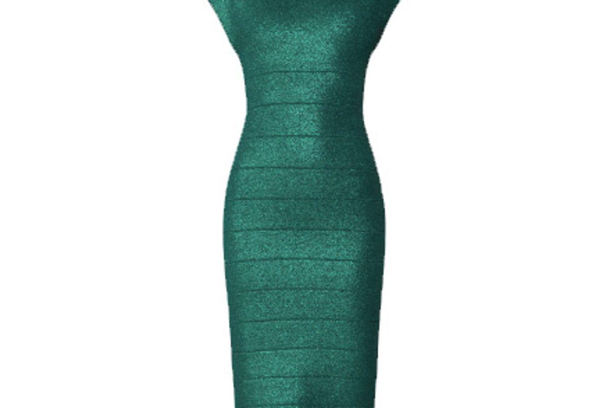 herve leger disco knit minimal dress