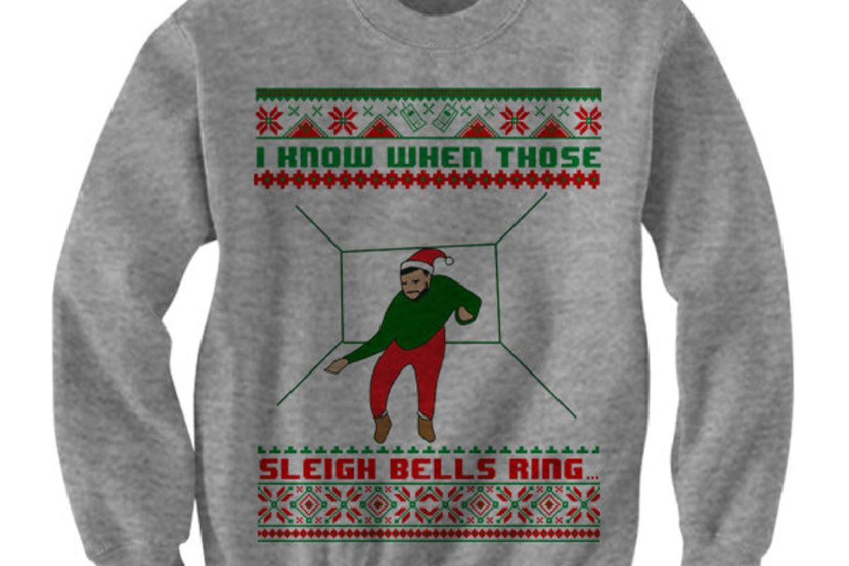 Drake Christmas Sweater I Know When Those Sleigh Bells