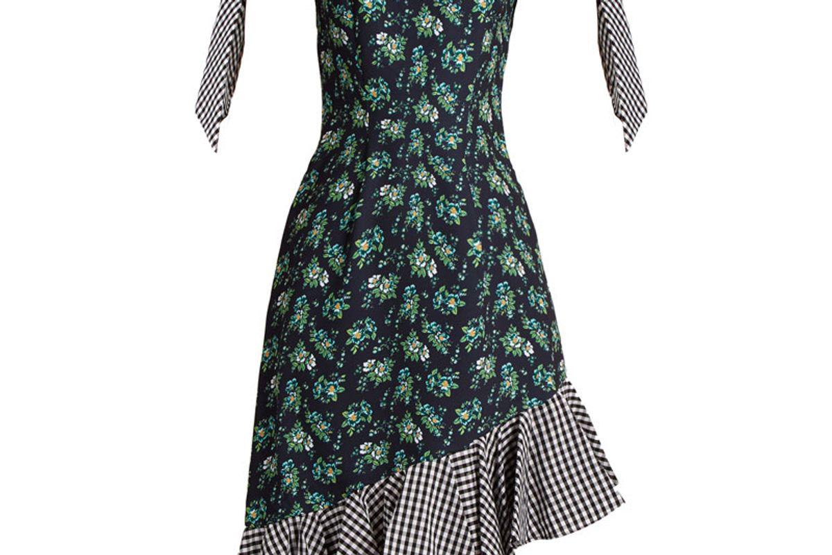 Off-the-Shoulder Floral Print Cady Dress