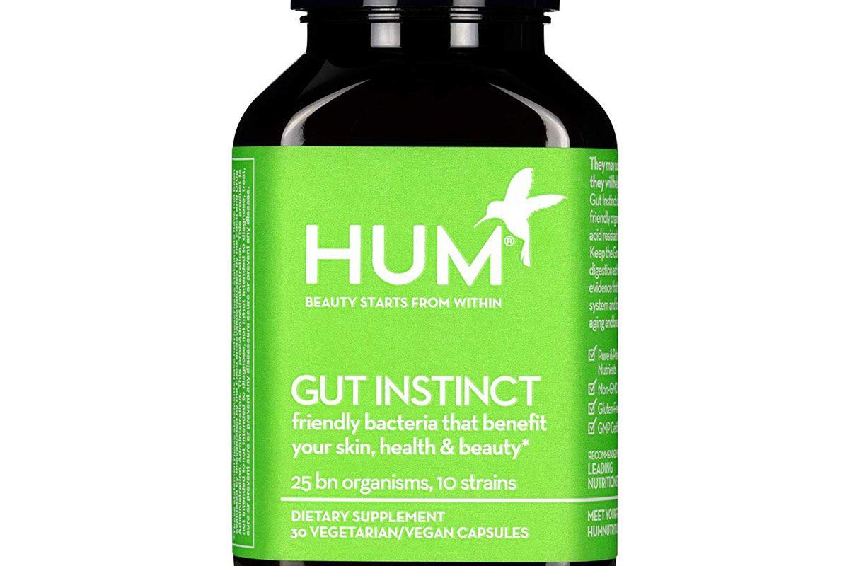 hum gut instinct 25 billion cfu skin beauty and gut support vegan probiotics