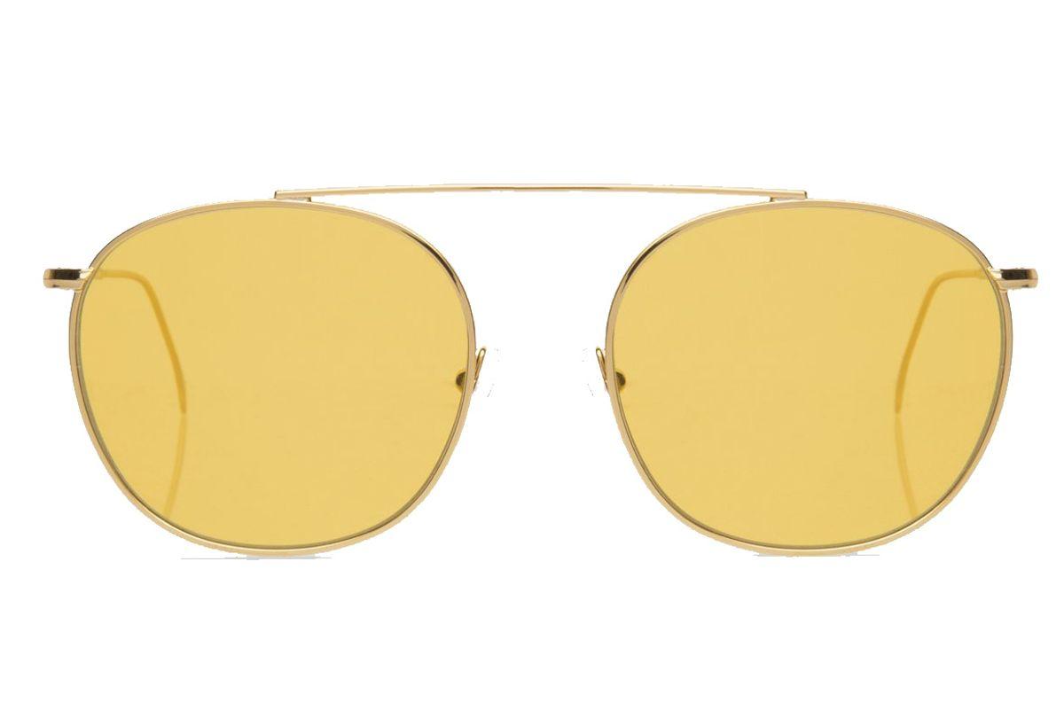 Mykonos II Sunglasses Gold with Honey See Through Lenses