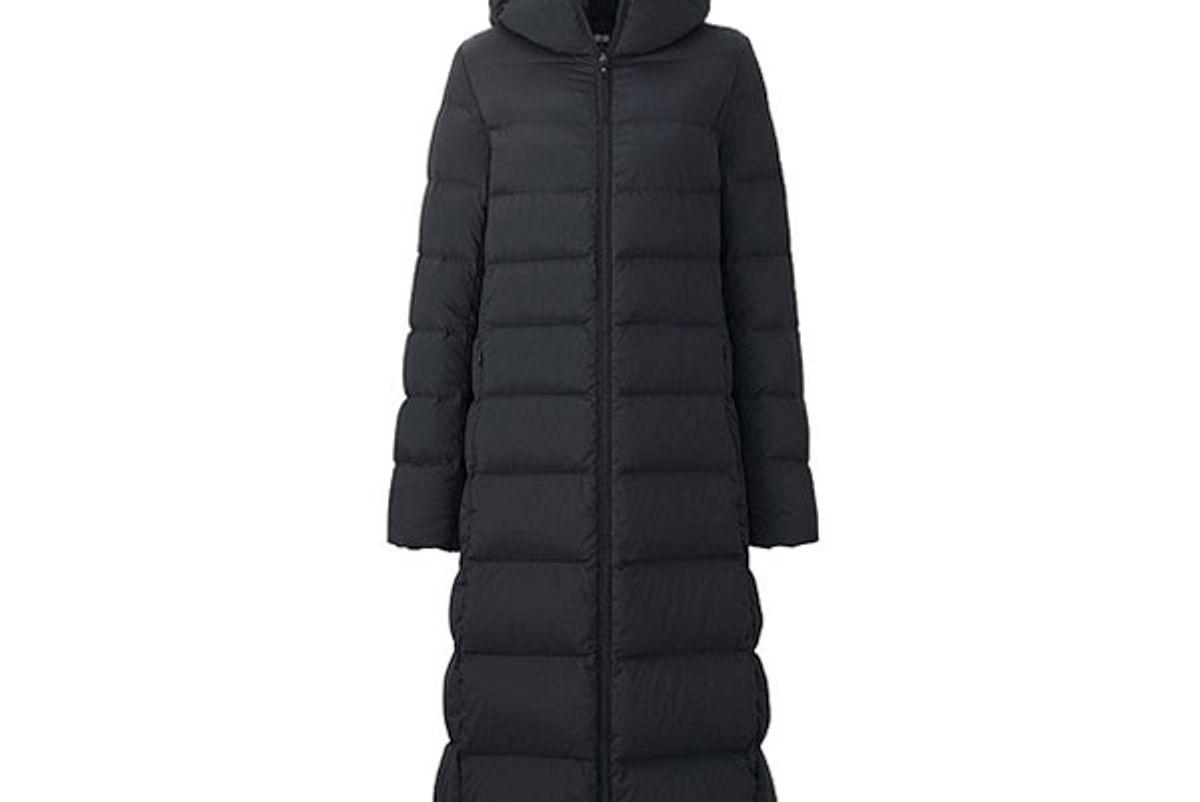 Women Ultra Light Down Stretch Long Coat