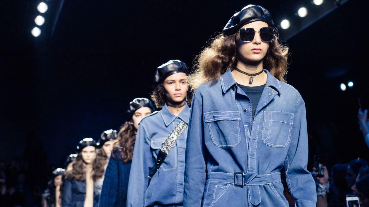You'll Definitely Want to Zoom In Dior's Blue Denim Looks