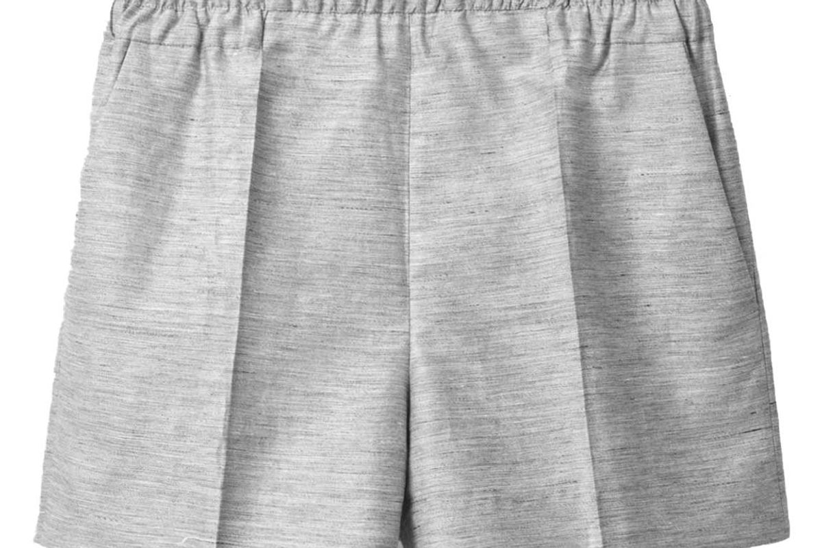 cos linen mix shorts
