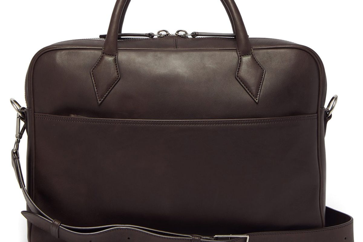 mtier closer smooth leather briefcase