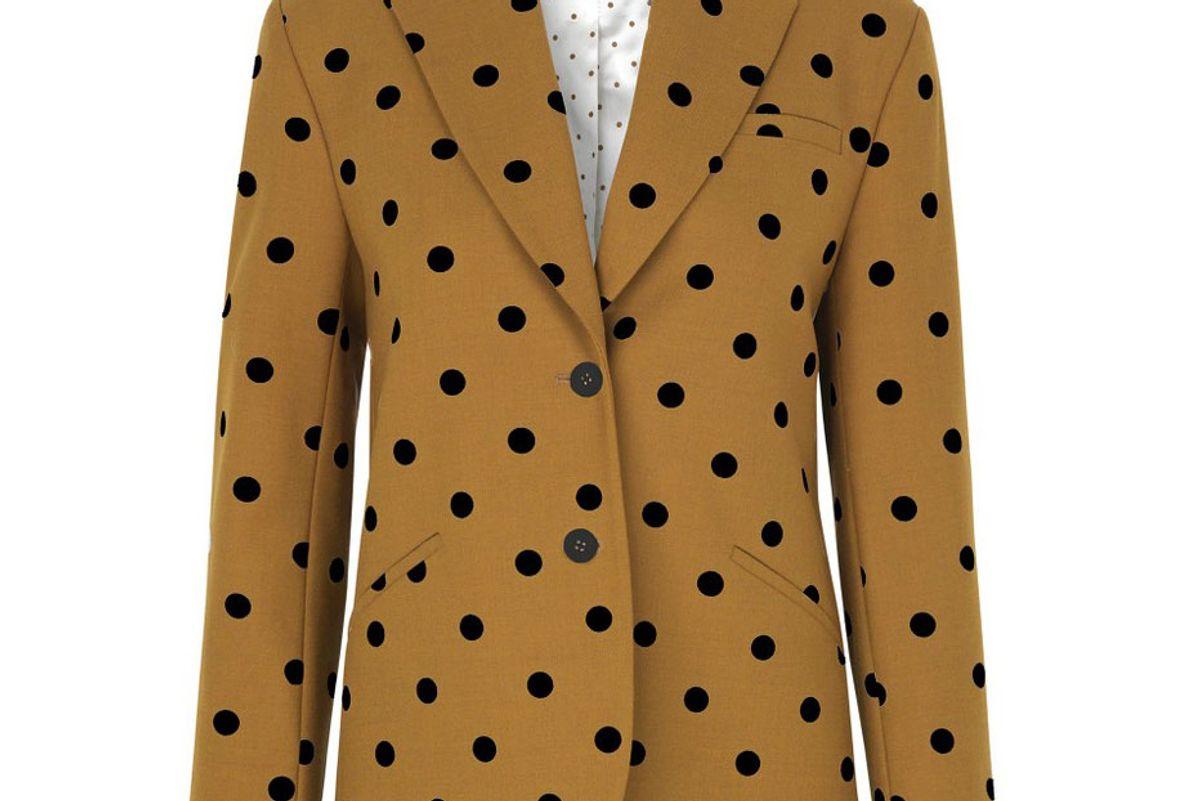 stine goya vina polka dot wool blend blazer