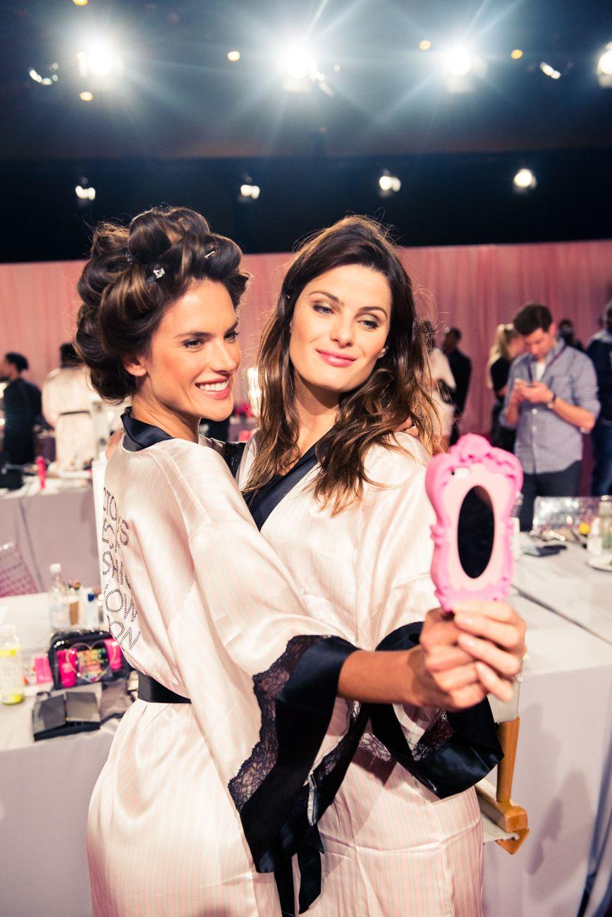 Backstage at the 2014 Victoria's Secret Show