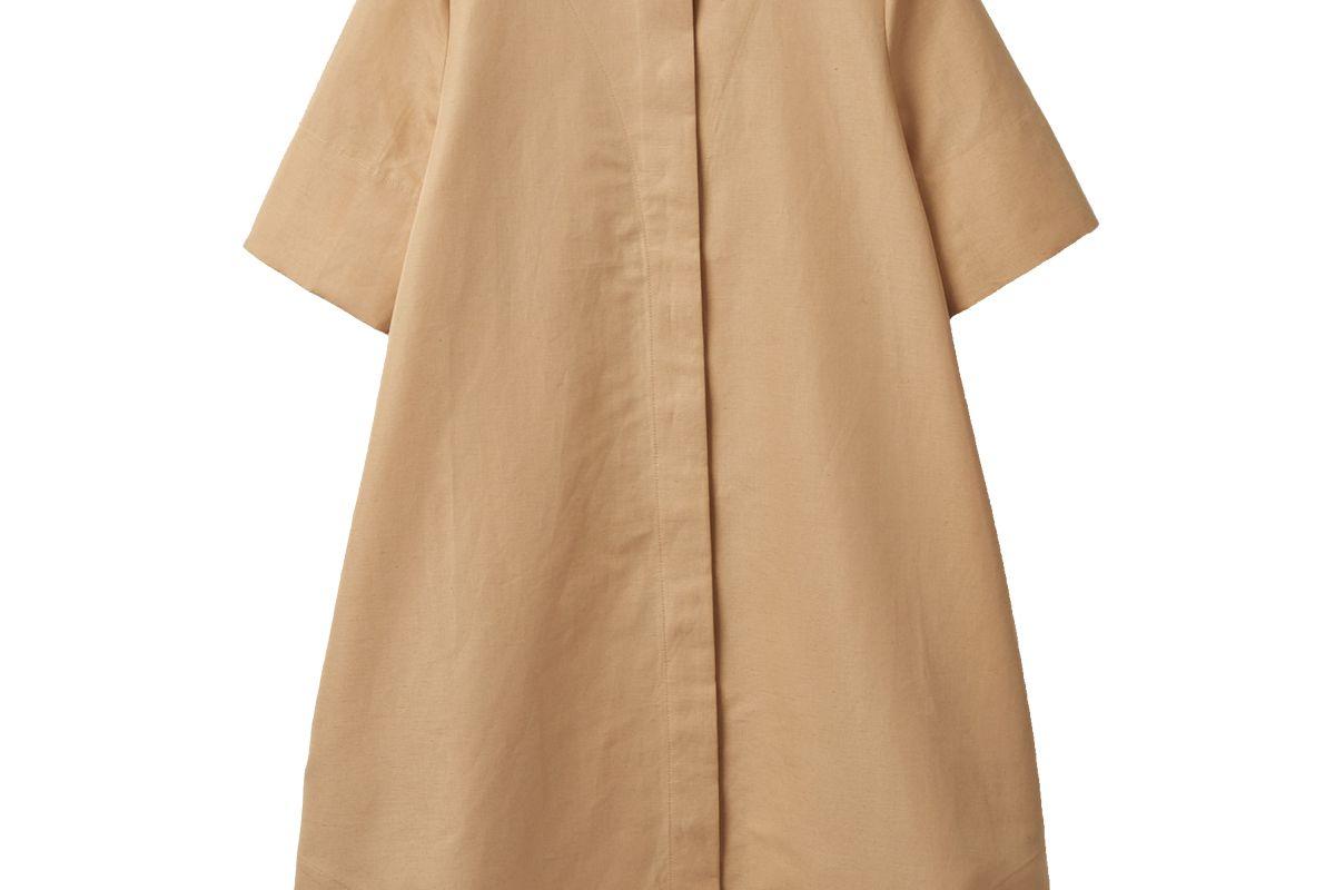 cos cotton linen a line shirt dress